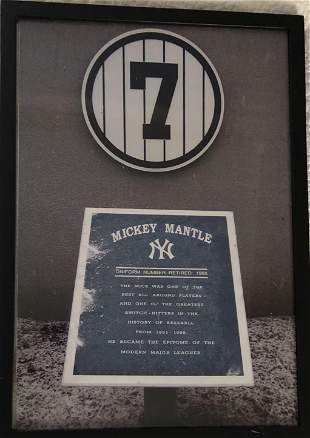 7 Mickey Mantle Retired NY Yankees Number Photo