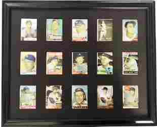 15 Mickey Mantel Topps Trading Cards
