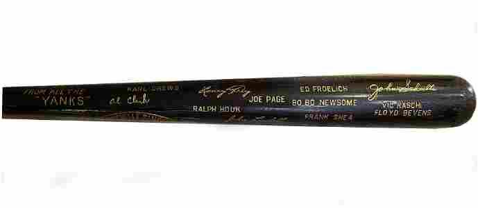 1950 Yankees World Champion Black Bat