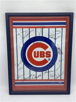 Cubs Plaque with Autographs
