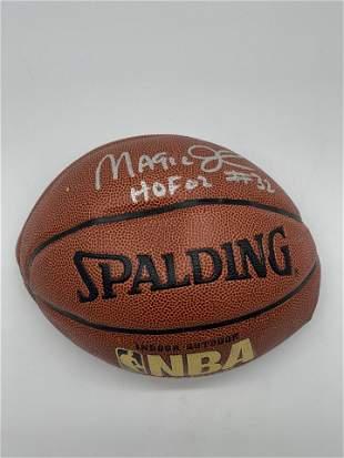 Magic Johnson 32 Autographed Basketball