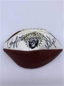 Oakland Raiders NFL Autographed Football