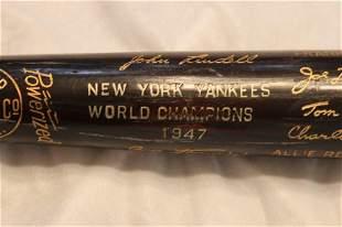1947 Yankees World Champion Bat