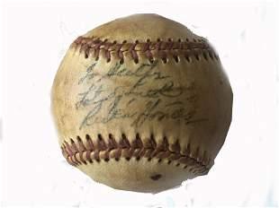 Autographed Baseball Ruben Gomez and 2 others