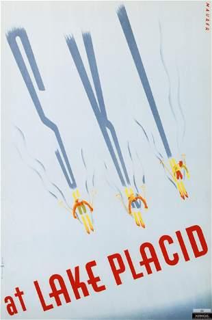 Ski at Lake Placid Sports Poster