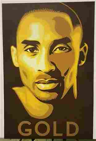 GOLD Kobe Bryant Sports Poster
