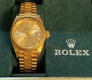 18k Gold Rolex Mens Presidential Rolex Unisex