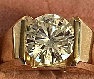 14k Gold Mine Cut Diamond Ring