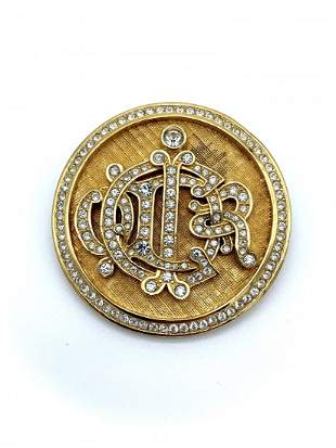 Vintage Christian Dior Germany Studded Brooch Pin