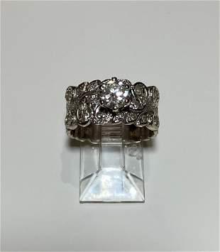 Women's 18K White Gold Diamond Ring