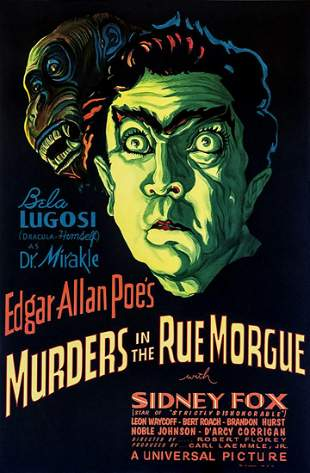 Murders in the Rue Morgue Hollywood Poster
