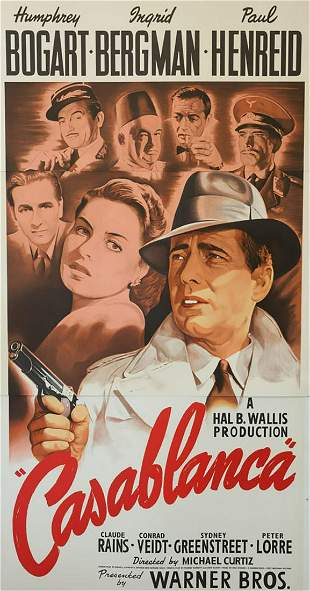 Casablanca Hollywood Poster