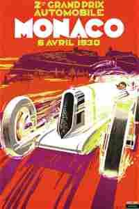 Monaco Grand Prix 1930 Sports Poster