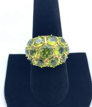 14 k Gold Peridot Ring Gorgeous
