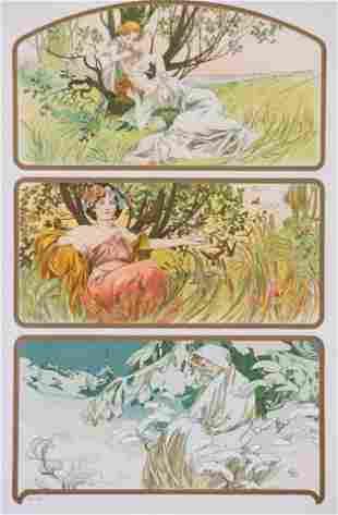 Three Seasons, by Alphonse Mucha