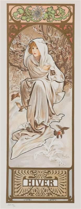 Seasons - Hiver (Winter), Alphonse Mucha