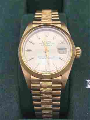 18kt Gold Oyster Perpetual Datejust Rolex Presidential