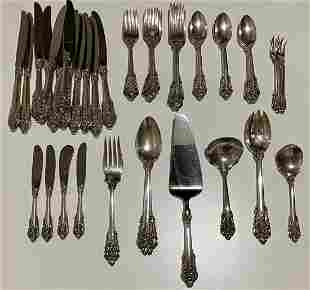 Grand Baroque by Wallace sterling silver flatware set