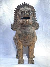 Tibetan Gilt Bronze Foo Lion