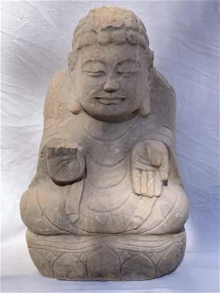 Rare Tibetan Meditating Buddha Statue