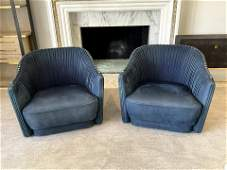 Pair of Roberto Cavalli Sharpei Arm Chairs