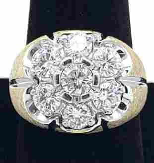 Multi Diamonds 14K Gold Mens Ring