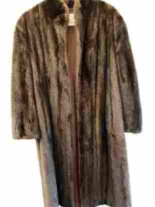 Vintage Fur Coat - Womens Long approx. Medium