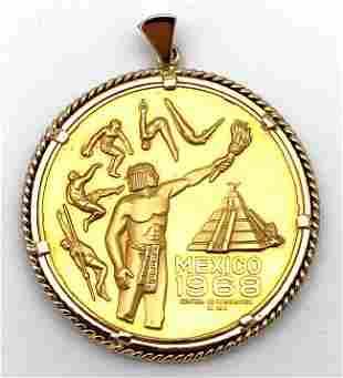 22kt Gold Rare 1968 Mexico City Olympics 22k Gold Medal