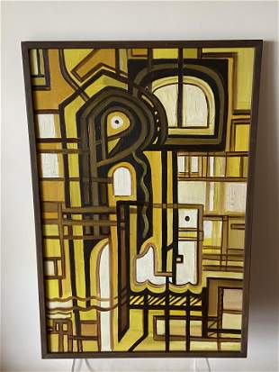 Midcentury Abstract Painting