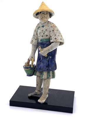Asian Woman Porcelain Figurine