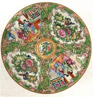 Famille Rose Hand Painted Vintage Small Plates