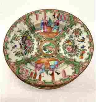 Famille Rose Vintage Large Soup Bowls