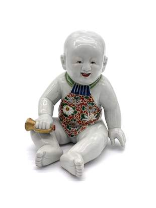 Hand Painted Asian Baby Pottery