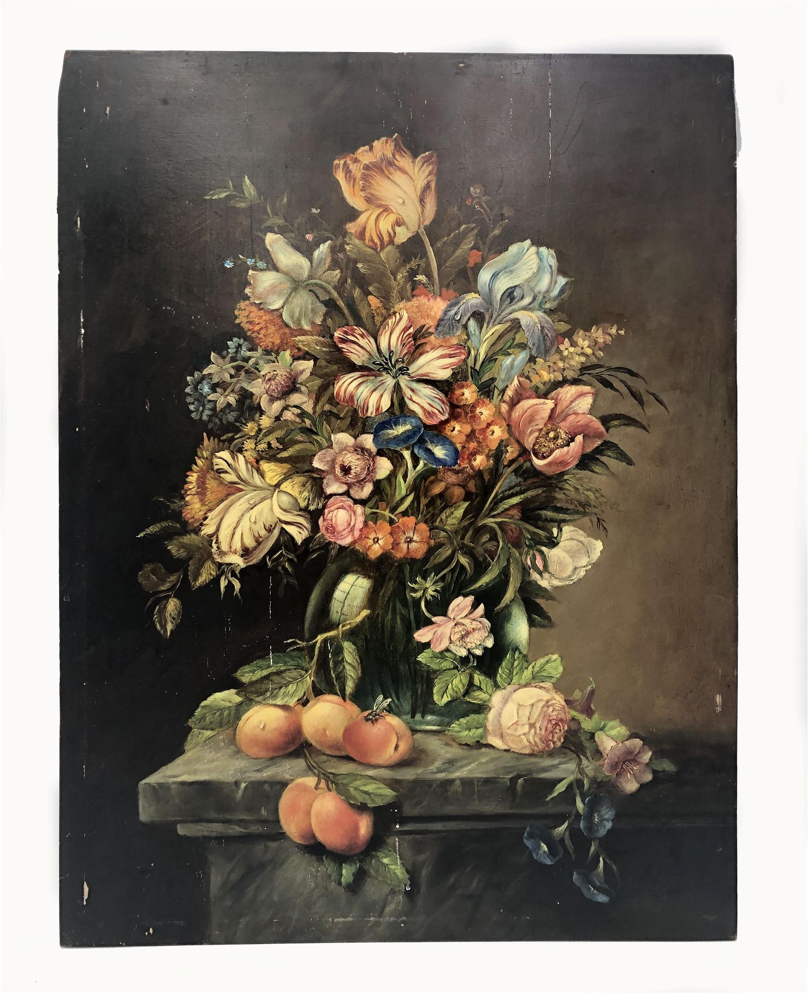Oil on board , late 18th c Style of Severin Roesen