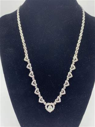 18kt White Gold Multi Diamond Necklace