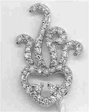 18kt White Gold Diamond Jelly Fish Pendant