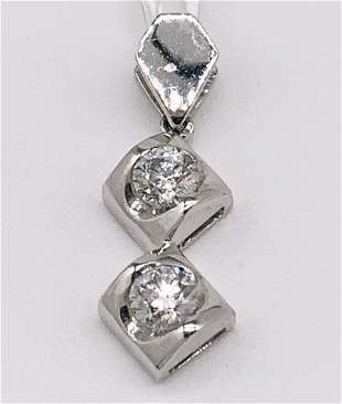 kt White Gold Multi Diamond Pendant