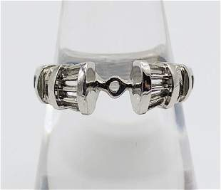 18k White Gold Ring Setting