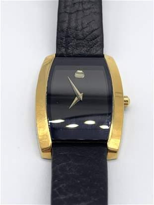 Movado Swiss Quartz Blackface Watch