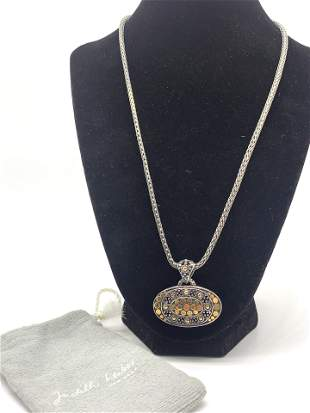 18kt Gold and Silver Necklace by John Hardy