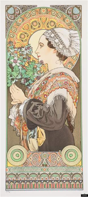 Sea Holly aka Thistle from the sands, Alphonse Mucha