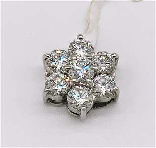 18kt White Gold Multi Diamond Dangle Pendant