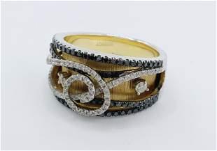 14kt Gold Diamond/Onyx Ring