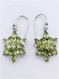 925 Silver and Peridot Earrings