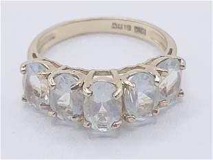 10 kt gold Aquamarine Ring