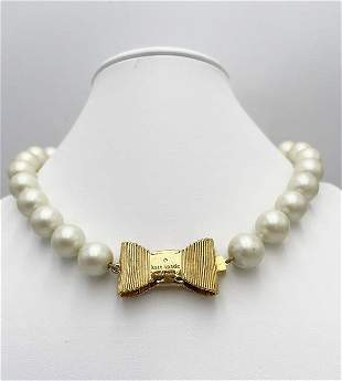 Kate Spade Vintage Simulated Pearl Necklace