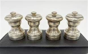 Italian Made Vintage Salt and Pepper Shakers - Set of 4