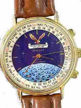 Appollo II 25th Anniversary Quartz Watch Leather Band