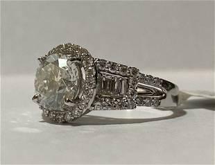 18K White Gold Diamond Unity Ring