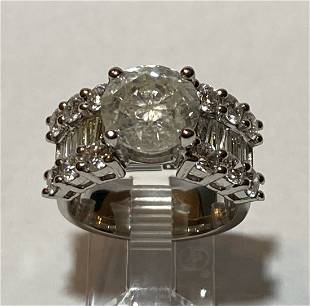 Platinum Cast Diamond Unity Ring